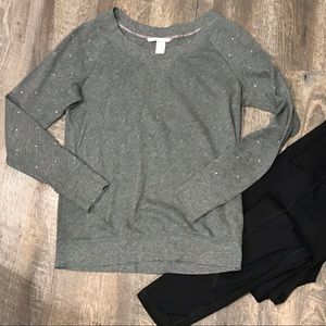 Victoria's Secret Grey Rhinestone Sweatshirt Small